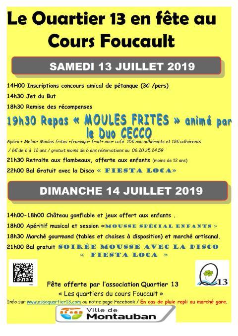 Association Quartier 13 Montauban 82 Cours Foucault Albarèdes